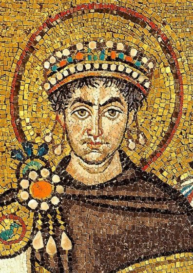 Justinian I The Great, Byzantine Emperor. Roman Art Print/Poster. (004736)